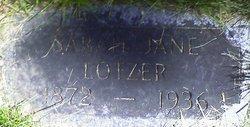 Sarah Jane <I>Watson</I> Lotzer