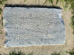 Loula <I>Pate</I> Churchman