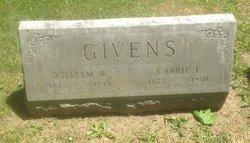 Carrie E. <I>Harkins</I> Givens