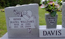 Hazel <I>Williams</I> Davis