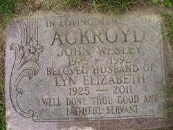 """Ethelyn Elizabeth """"Lyn"""" <I>Brown</I> Ackroyd"""