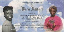Marie Aurelia <I>Rainger</I> Rainger