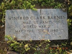 Maj Winfred Clark Barnes