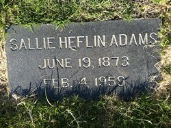 Sallie <I>Heflin</I> Adams