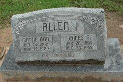 Mattie Ann <I>Darst</I> Allen