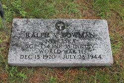 Sgt Ralph Vernon Bowman
