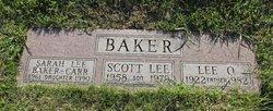 Sarah Lee <I>Baker</I> Carr