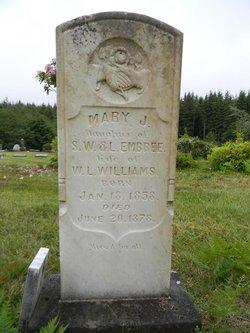 Mary J. <I>Embree</I> Williams