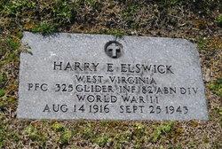 PFC Harry E Elswick