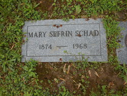 Mary J. <I>Sefrin</I> Schad