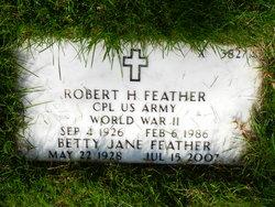 Robert H Feather