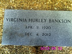 """Virginia """"Jennie"""" <I>Hurley</I> Bankson"""