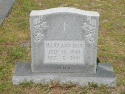 Mary Ann <I>Tankersley</I> Fain