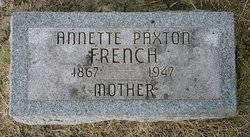 """Annette A. """"Nettie"""" <I>Paxton</I> French"""