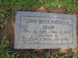 Lovie Belle <I>Poetostia</I> Brady