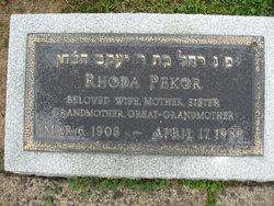 Rhoda <I>Cohen</I> Pekor