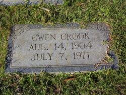 """Frances Gwendolyn """"Gwen"""" <I>DeLay</I> Crook"""
