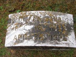 Julia Ann <I>Billingsley</I> Sanders