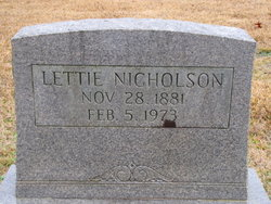 Lettie Nicholson