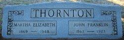 "Martha Elizabeth ""Bettie"" <I>Widener</I> Thornton"