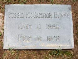 Gussie <I>McCammon</I> Burke