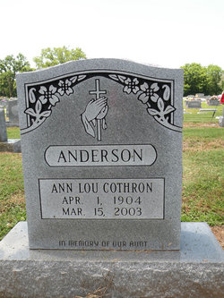 Ann Lou <I>Cothron</I> Anderson