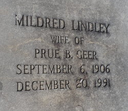 Mildred <I>Lindley</I> Geer