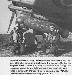 Flying Officer ( Pilot ) Robert John Reilly
