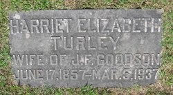 "Harriet Elizabeth ""Hattie"" <I>Turley</I> Goodson"