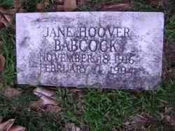 Jane D <I>Williams</I> Babcock