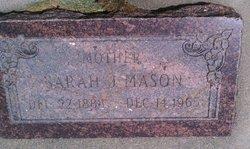 Sarah <I>Jones</I> Mason