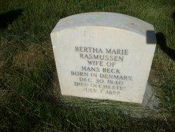 Bertha Maria <I>Rasmussen</I> Beck