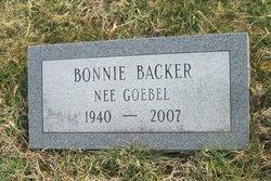 Bonnie <I>Goebel</I> Backer