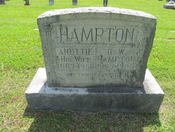 Sarah Annettie <I>Stanfill</I> Hampton