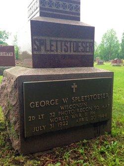 2Lt George W Spletstoeser