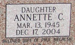 Annette C <I>Johnson</I> Biegalski