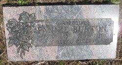 Fannie <I>Baker</I> Burton