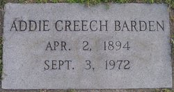 Addie Vange <I>Creech</I> Barden