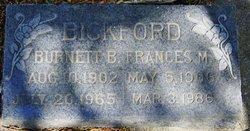 Frances M. <I>Balsley</I> Bickford
