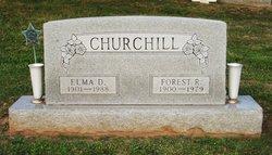 Elma D. <I>Denton</I> Churchill
