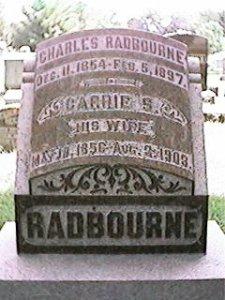 """Caroline S """"Carrie"""" <I>Clark</I> Radbourne"""