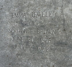 Emma <I>Jewell</I> Brown