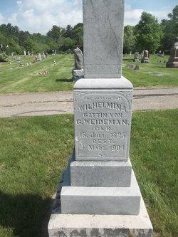 Wilhelmina Augusta <I>Stelter</I> Weideman