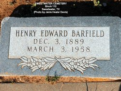 Henry Edward Barfield, Sr
