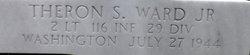 2Lt Theron S Ward Jr.