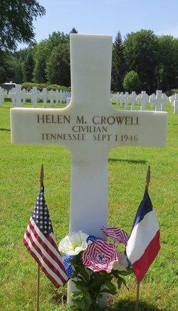 "Helen M ""Suzanne"" Crowell"