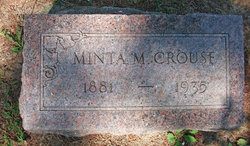 "Arminta Minnie ""Mintie"" <I>Robinson</I> Crouse"