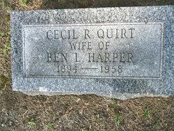 Cecil R <I>Quirt</I> Harper