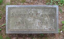 Alice M <I>Weaver</I> Caines