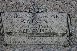 Virginia Louise <I>Tucker</I> Watson